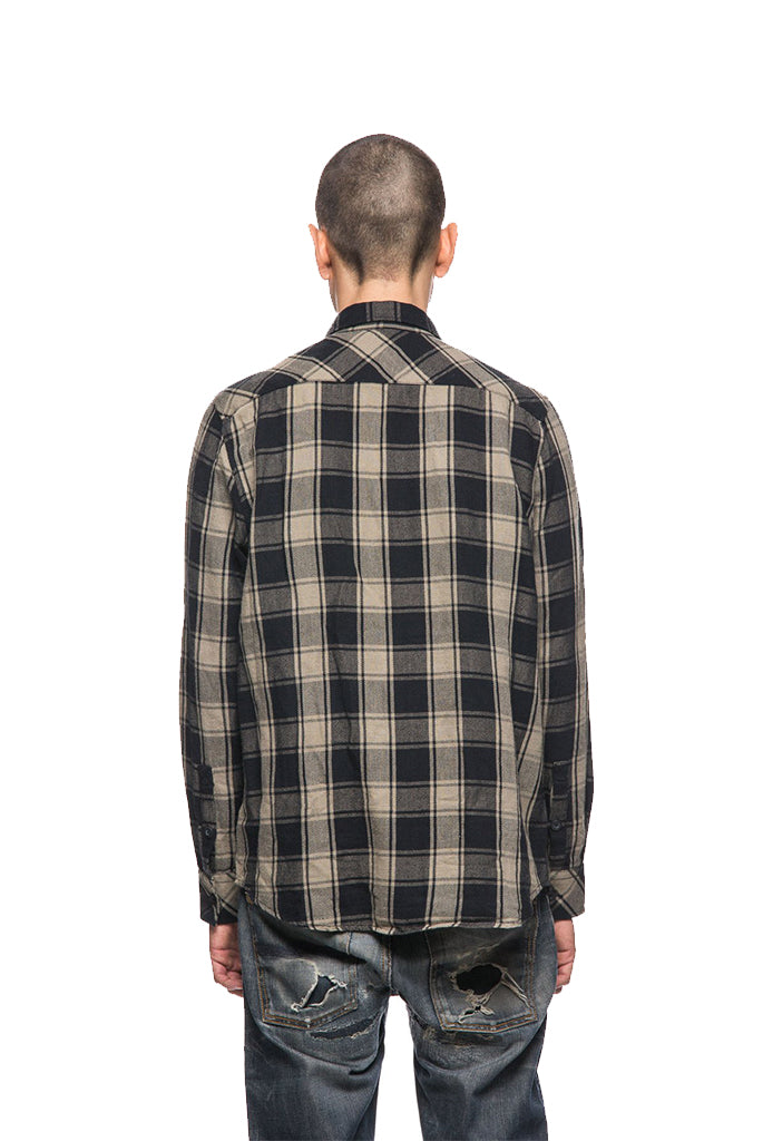 Nudie Jeans - Sten Block Check Desert Green