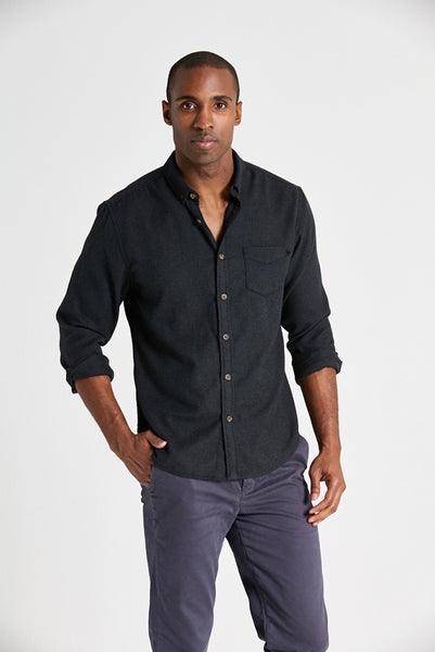 Life After Denim - Greenpoint Shirt in Heather Black