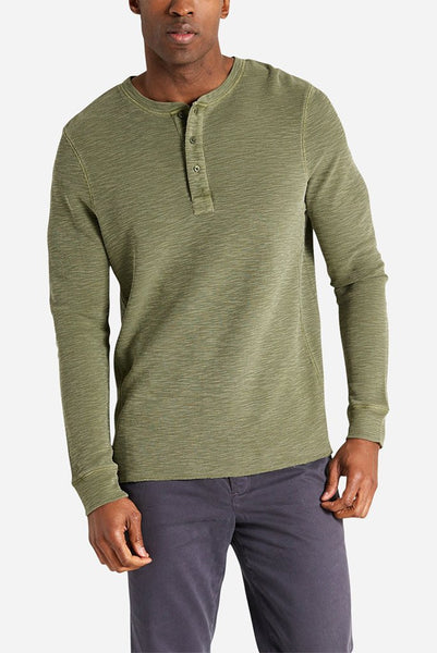 Life After Denim - Thermal Henley in Green