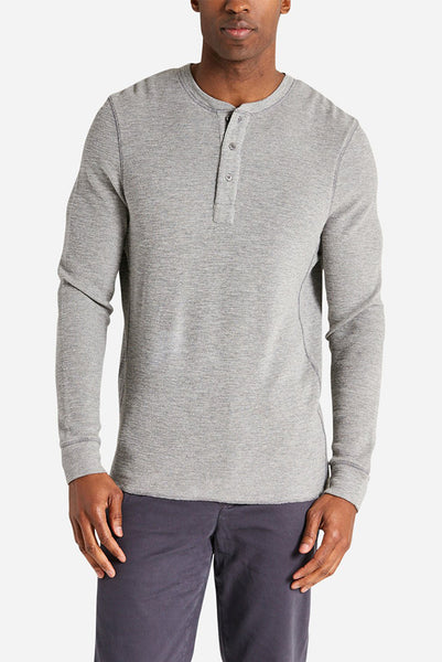 Life After Denim - Thermal Henley in Grey