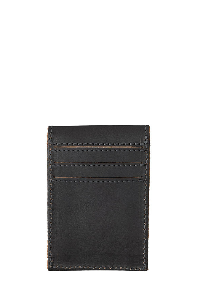 Nudie Jeans - Edvardsson Leather Wallet in Black