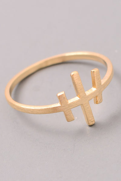 Magnolia Mill Cross Ring