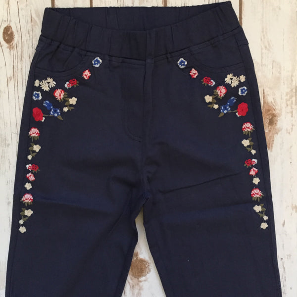 Magnolia Mill Floral Jeggings