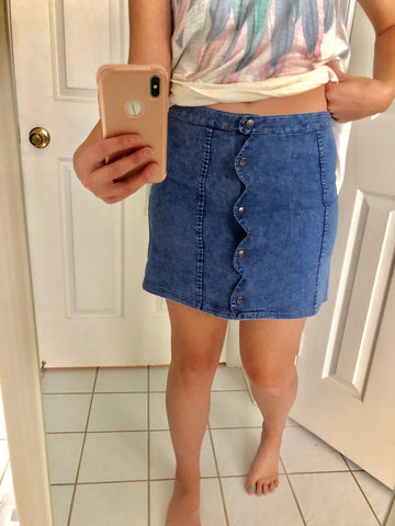 Bethany Denim Skirt