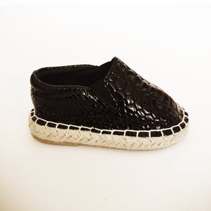 Gator, Gator Slip On (Black Crocodile)