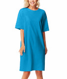 Solid Color Sleep Shirt