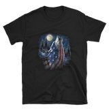 Flag Wolf American T-Shirt