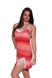 Ladies Chemise - Classic printed babydoll Red White Dots Print