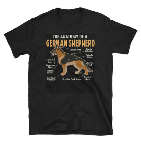 The Funny and Cute Anatomy of a German Shepherd T-Shirt