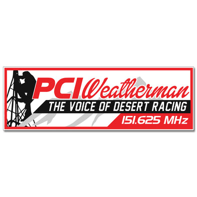 PCI Weatherman Relay Sticker