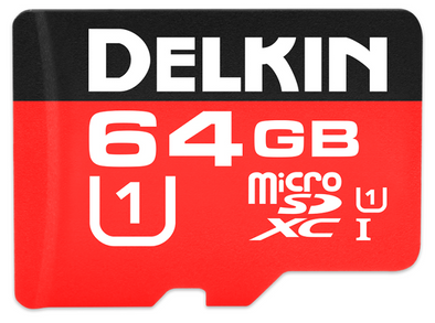 Delkin 64GB Micro SDHC Card