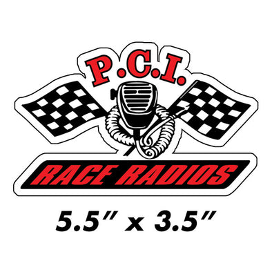 PCI Contingency Die Cut Sticker - PCI Race Radios