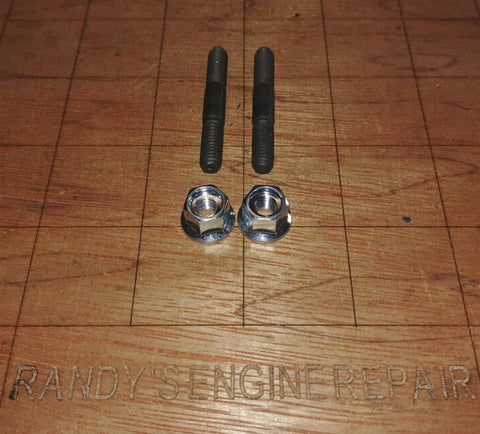 (2) Bar Bolt Studs & Nuts McCulloch 228935, 235217 fits 930, 935, 940, Titan 40