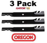 "1 Set of 3 Oregon Gator Lawn Mower Blades 48"" Deck replace Craftsman 532180054"