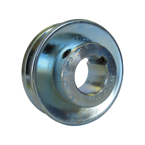 "V-Belt Pulley — 1/2"" in. Bore, 2"" in. Outside Diameter fits 1/2"" or 4L belt type"