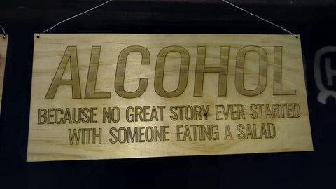 Alcohol Decorative Sign