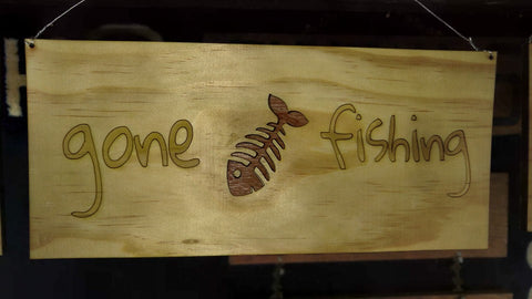 Gone Fishing Decorative Sign