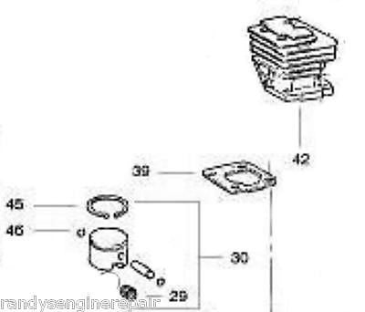 PISTON & cylinder KIT POULAN CRAFTSMAN PP330 3450 3750