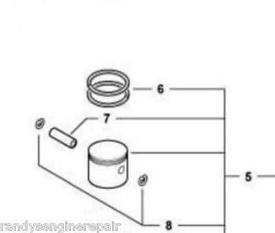 ECHO Piston assy P021003080 = P021006802 fit SRM & PE