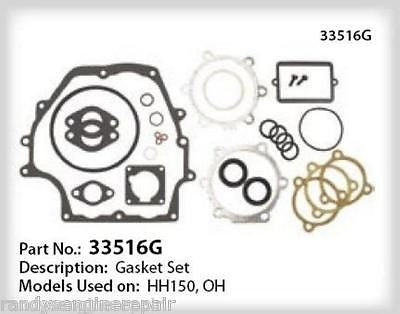Tecumseh OH120 OH140,OH150,OH160 Gasket set 33516G Bolens , Sears GENUINE PART