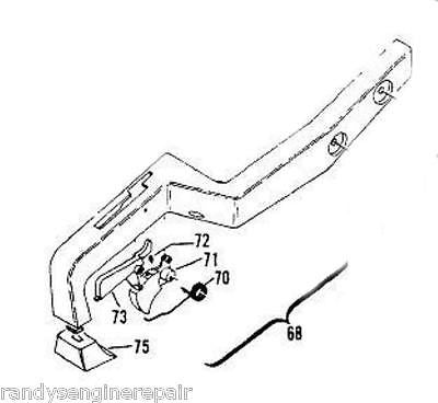 REAR HANDLE ASSEMBLY MCCULLOCH CHAINSAW 214723