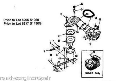 Parts For Homelite Page 62 Randy's Engine Repair. Nos Vintage Homelite 581832 Intake Manifold 1050 1130g. Wiring. Homelite Z825sd Parts Diagram At Scoala.co