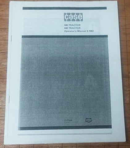 CASE INGERSOLL 9-7083 OPERATORS MANUAL select after PIN # 446, 448 tractor