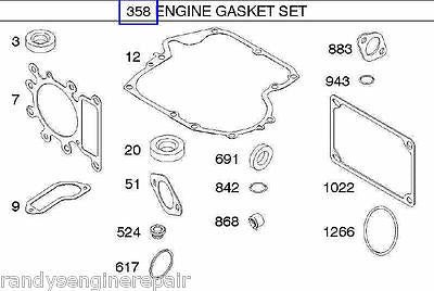 Briggs and Stratton 794150, 796187 Engine Overhaul Gasket