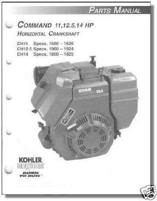 TP-2401-B PARTS Manual  KOHLER Engine For CH11-CH14