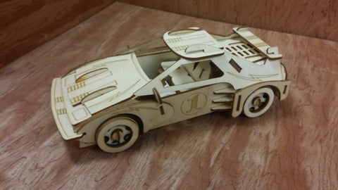 Laser Cut Wooden Model Kit Race Car Ages 8+. Customization available! FREE US SHIPPING!