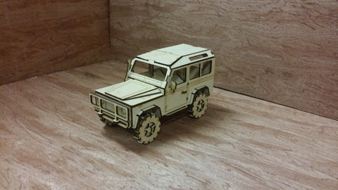 Laser Cut Wooden Model Kit Land Rover Defender truck Ages 8+. Customization available! FREE US SHIPPING!