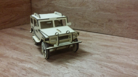 Laser Cut Wooden Model Kit JeepTruck Ages 8+. Customization available! FREE US SHIPPING!