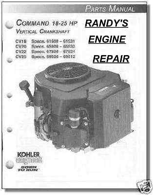 TP-2461 PARTS Manual KOHLER CV18 CV20 CV22 CV25