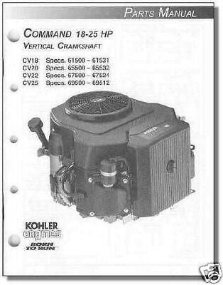 PARTS Manual 4 KOHLER Engine CV18 CV20 CV22 CV25