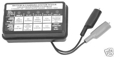Charging System Tester 6 & 12 volt small engine repair