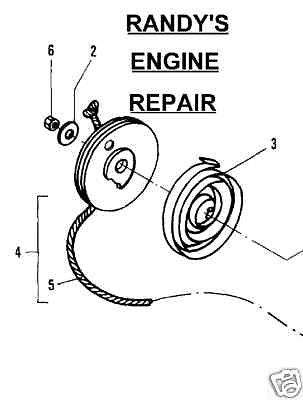 Recoil Starter Spring 235371 222784 Mcculloch Chainsaw