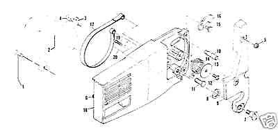 part roller pin 214367 MCCULLOCH CHAINSAW