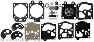 Replace Poulan Craftsman 530035161 Carburetor Carb repair rebuild kit for Walbro carburetor