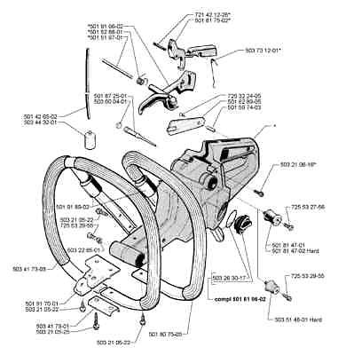 Fuel Tank Vent Valve Husqvarna 501872501 288 395 Chainsaw on kohler engine parts diagram