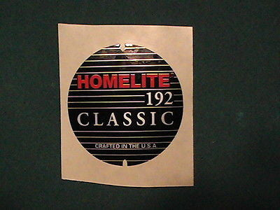 Homelite 192 classic decal