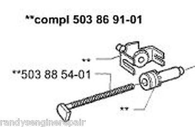 oem 537071201 HUSQVARNA 346XP CHAIN ADJUSTING SCREW KIT