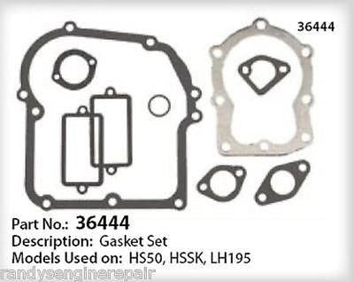 Tecumseh 36444 Engine Overhaul Gasket Kit Set fits HS50, HSSK, LH195 models