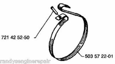 brake band HUSQVARNA 61 66 266 268 272 281 288 CHAINSAW OEM 503572201