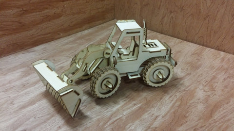 Laser Cut Wooden Model Kit Bucket Loader Excavator Ages 8+. Customization available! FREE US SHIPPING!