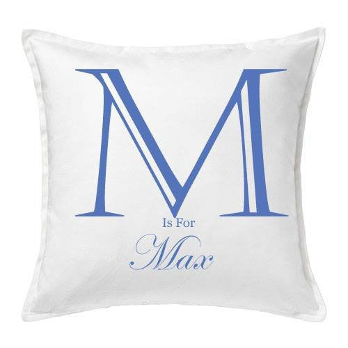 Personalised Boys Initial Cushion