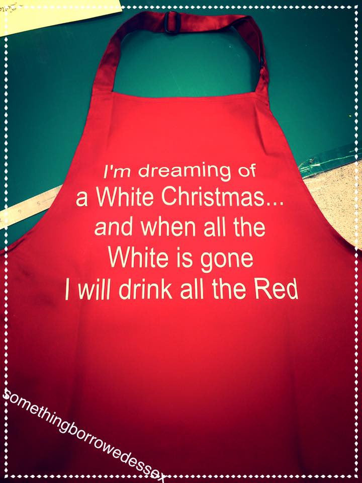 Red Wine Christmas Apron
