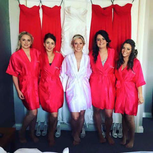 Silky Red Wedding Robe