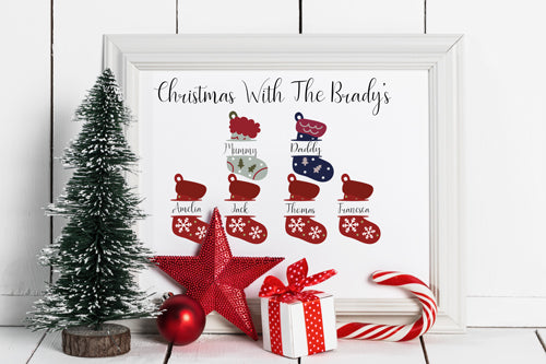 Christmas Stocking Picture Frame Pretty N Personal