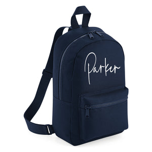 Signature Mini Backpack - Navy