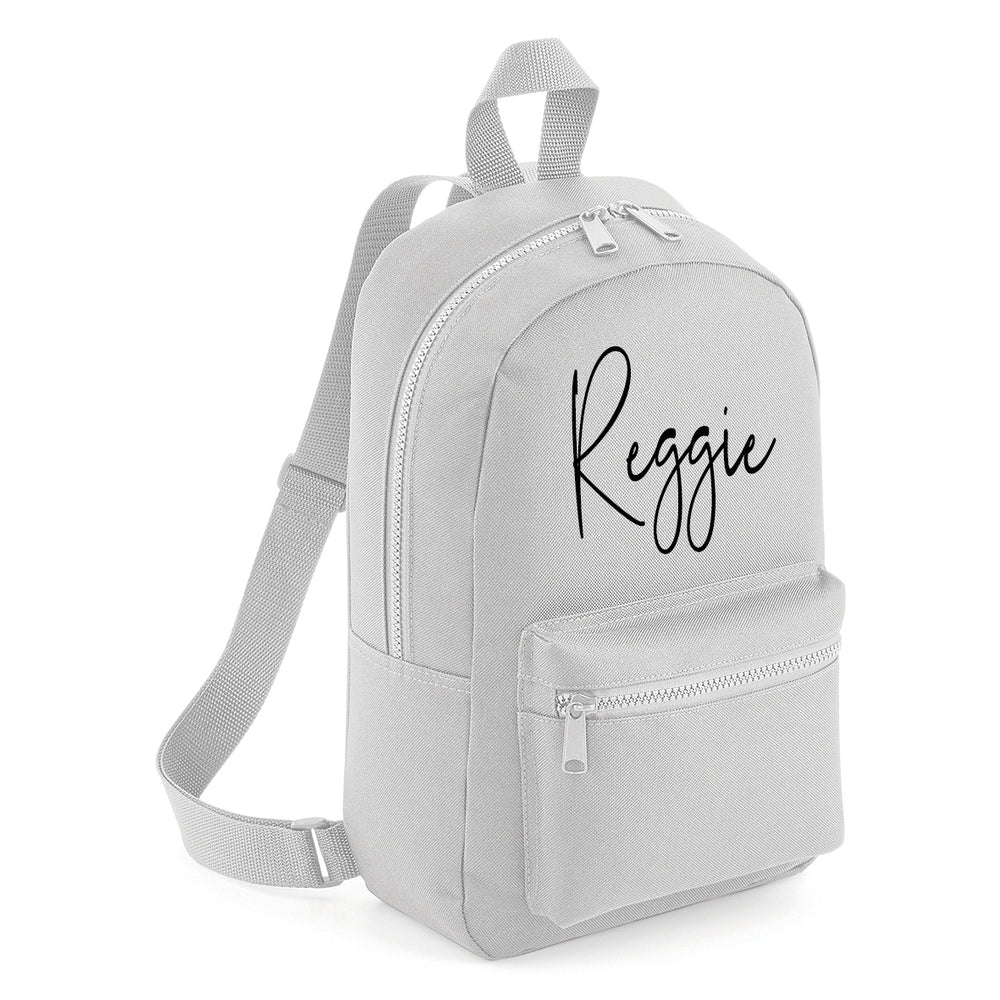 Signature Mini Backpack - Grey